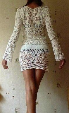 bestido a crochet