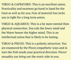 Virgo Compatibility with Capricorn, Aquarius, and Pisces Virgo And Aquarius Compatibility, Capricorn And Virgo, Virgo Zodiac, Zodiac Signs, Virgo Sun Sign, Virgo Love, Virgo Quotes, Star Children, Astrology
