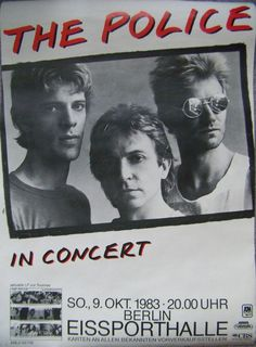 The Police Concert Poster https://www.facebook.com/FromTheWaybackMachine