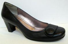 ECCO 'Hanna' Black Leather Button Pump Size 40/US 9-9.5 #Ecco #MaryJanes