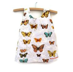 Butterfly baby dress Size 0 upcycled baby by BananaOrangeApple, $40.00
