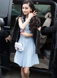 Angelababy #Christian Dior FW 2013 Paris Fashion Week Mar 2013