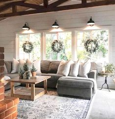 Farmhouse style is often equated with the word 'rustic. Farmhouse style is very adaptable and can be combined easily with many other styles. Comfortable furnishings, country-style light fixtures, and…MoreMore #livingroomremodeling