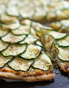 Ina Garten's Zucchini and Goat Cheese Tart  (Plus More of Ina Garten's Most Delicious Vegetarian Recipes Ever)  #inagarten #vegetarian #recipes Zucchini Tart, Vegetarian Entrees, Vegetarian Main Dishes, Best Vegetarian Recipes, Vegetarian Thanksgiving, Vegan Vegetarian, Food Network Recipes, Food Processor Recipes, Cooking Recipes