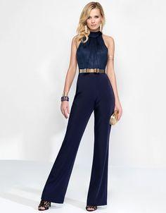 afe7a64bfb2b High Neckline Pant Suit Alyce Paris 2576 Prom Jumpsuit