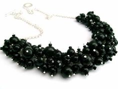 chunky black necklace - Google Search