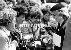 June 27 1985 Huge crowds greeted the Prince and Princess of Wales when they arrived in Warwickshire. They lined the streets hours before the couple arrived for the first royal visit to Atherstone in 500 years