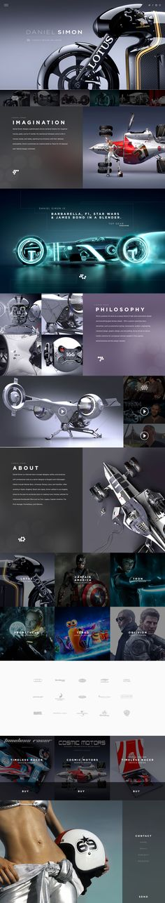 Allright, the subject lends itself for a stunning web design. Daniel Simon Website by Lance Culbreth