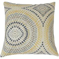 The Pillow Collection Dympna Geometric Cotton Throw Pillow & Reviews | Wayfair