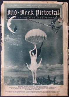"""Joan Crawford as a """"modern witch"""" on the cover of """"Mid Week Pictorial"""" October, 1927"""