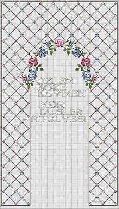 Cross Stitch Borders, Cross Stitch Rose, Modern Cross Stitch Patterns, Cross Stitch Flowers, Easy Crochet Patterns, Cross Stitch Designs, Cross Stitch Embroidery, Hand Embroidery, Cross Stitch Family