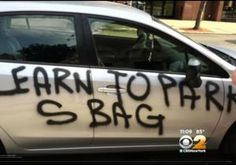 'Hey scumbag, park right!' Vandal tags Queens cars with crass spray paint messages