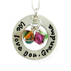 We love you Grandma Necklace  Hand Stamped by jcjewelrydesign, $46.00