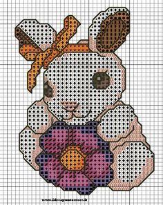 schema punto croce coniglio thun   Hobby lavori femminili - ricamo - uncinetto - maglia