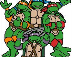 graphgan patterns | Teenage Mutant Ninja Turtles 2 Croc het Graph / Chart 153 x 150 ...