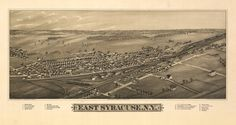 Historic Map of East Syracuse, NY - 1885
