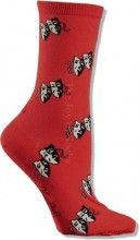 Red Comedy and Drama Socks (Women's)