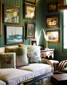 A Smoky Green Library paint colors for northern exposure Green Library, Green Rooms, Green Walls, Colorful Interiors, Home Remodeling, Paint Colors, Room Colors, Color Walls, Paint Walls
