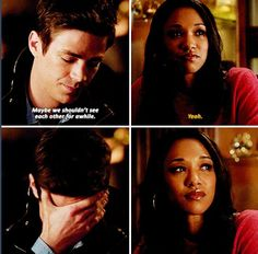 The Flash - Barry Allen and Iris West #Season1 :'( Poor Barry!! <---- Heck yes! This was just like aww wait no, wake up people, cries....weeps!