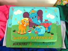 We love the colors on this cake for Daniel and Jonathan!! #GBbirthday