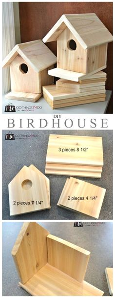 Build this DIY birdhouse for about $3 and help nature while having fun with your kids  #WoodworkPlans