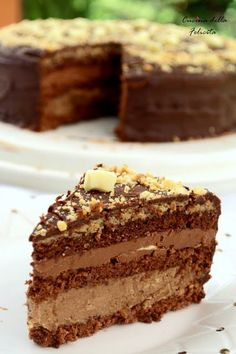 Cucina della Felicità: Tort pralinowy Good Food, Yummy Food, Creative Desserts, Brownie Cake, Polish Recipes, Pastry Recipes, Cakes And More, Delicious Desserts, Food And Drink