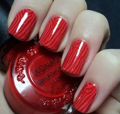 Red and Black Nail Designs