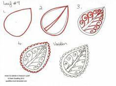 Paisley leaf 09
