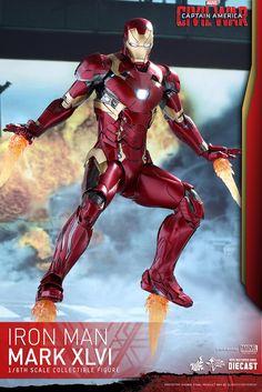 Hot Toys - MMS353D16 - 《美國隊長3:英雄內戰》1/6 比例鋼鐵人馬克46 Mark XLVI | 玩具人Toy People News