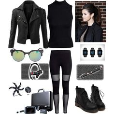halloween spy outfit by ashbash9692 on Polyvore featuring polyvore fashion style Boohoo Doublju Spy Optic Sony