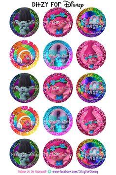 Trolls Inspired Rainbow/Glittered Digital by DitzyForDisney