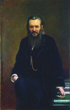 1881 Portrait of Alexey Suvorin  - Ivan Kramskoy
