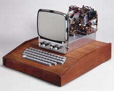 Apple I home computer (1976).