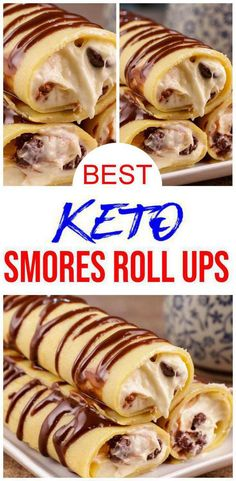 Low Carb Sweets, Low Carb Desserts, Low Carb Recipes, Cooking Recipes, Roll Ups Recipes, Comida Keto, Bon Dessert, Keto Cookies, Ketogenic Recipes