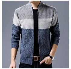 Knit Jacket, Sweater Jacket, Men Sweater, Jacket Men, Mandarin Collar Jacket, Revival Clothing, Casual Sweaters, Men's Cardigans, Look Cool