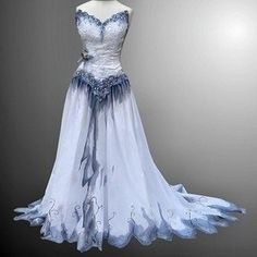Wiccan Clothing for a Goddess>>>This is the wedding dress from Corpse Bride...