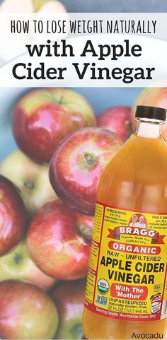 Lose weight naturally with apple cider vinegar! This healthy drink will help you detox and is great for weight loss! http://avocadu.com/how-to-lose-weight-naturally-with-apple-cider-vinegar/