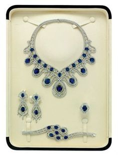 SAPPHIRE AND DIAMOND PARURE, BY ELIE CHATILA