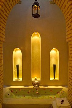 Moroccan bathtub.