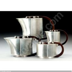 art deco tea coffee sets /French Maison Puiforcat