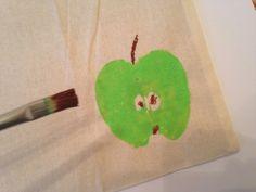 Schritt 9: Wer sich weiter kreativ entfalten will, kann noch Elemente wie den Apfelstengel und Kerne hinzufügen. #Pinsel #malen #kreativ