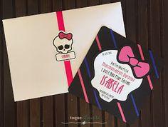 Aniversário Monster High - Parte I Como fazer um convite de Monster High (Silhouette Cameo)  Monster High Invitation: how-to using Silhouette Cameo