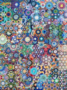 Joyce Kozloff - Maps & Patterns_inspired by travels on the silk route_Islamic star patterns | Patternbank