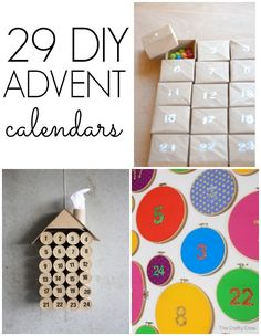29 DIY Advent Calendars that you can make with the kids!