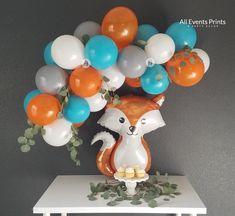 1st Boy Birthday, 1st Birthday Parties, Happy Birthday, Fox Party, Balloon Pump, Woodland Party, Balloon Garland, Wild Ones, Baby Shower Decorations