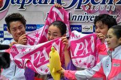 Daisuke Murakami,Mao Asada,Shoma Uno and Satoko Miyahara : JAPAN OPEN 2015