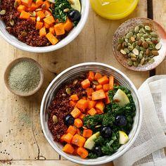 bol cuisine table bois epice buddha bowl vegetarien
