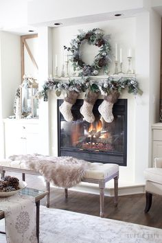 A Rustic Chic Christmas Decor Tour. French Farmhouse Holiday Decor.
