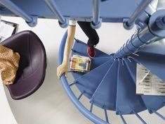 """Clip è l'innovativa scala a chiocciola di Fontanot realizzata in acciaio verniciato a secco. Clip integra un sistema di montaggio """"a morsa"""" che garantisce maggiore semplicità in fase di posa  http://www.comeristrutturarelacasa.it/clip-fontanot  #scale #chiocciola #stairs"""