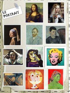 Portrait activities: visual arts and writing workshop Self Portrait Kids, L'art Du Portrait, History Memes, Art History, Art Montessori, Culture Art, Atelier D Art, Ecole Art, A Level Art